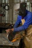 точильщик угла афроамериканца стоковые фото