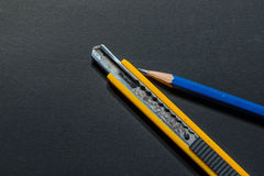 Точилка для карандашей резца ножа - изображение запаса Стоковая Фотография