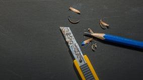 Точилка для карандашей резца ножа - изображение запаса Стоковые Изображения