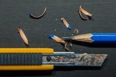 Точилка для карандашей резца ножа - изображение запаса Стоковое Изображение