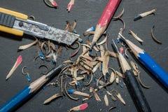 Точилка для карандашей резца ножа - изображение запаса Стоковые Фото