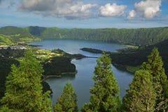 точка зрения Азорских островов Стоковое Изображение RF