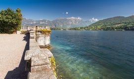 Точка зрения вдоль озера Como, Италии, Европы стоковое изображение