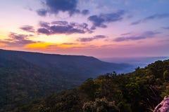 Точка зрения горы в Таиланде Стоковое Изображение