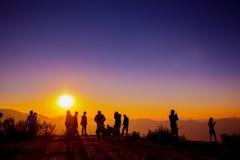 Точка зрения захода солнца Стоковая Фотография