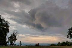 Точка зрения захода солнца Стоковое Фото