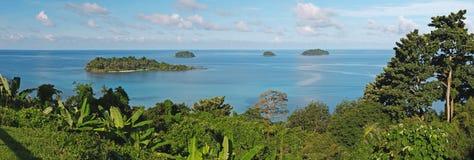 Точка зрения залива Сиама, остров Koh-Chang Стоковое фото RF