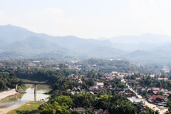 Точка зрения и ландшафт в prabang luang, Лаосе Стоковые Фотографии RF