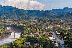 Точка зрения и ландшафт в prabang luang Стоковые Фото