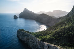 Точка зрения к Крышке de Formentor, Мальорке стоковое фото rf