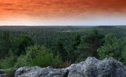 Точка зрения национального леса француза pignons trois стоковая фотография