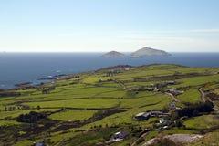 Точка зрения над заливом Ballinskelligs на Derrynane, Керри графства стоковое фото