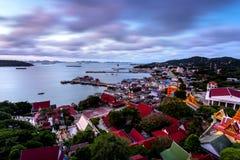 Точка зрения на острове Si Chang Стоковая Фотография RF