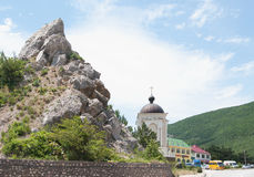 точка зрения на пропуске Laspi, Крыме Стоковое Фото