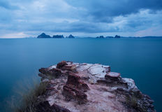 Точка зрения на Krabi, Таиланде Стоковое Фото