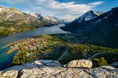 Точка зрения озера Waterton стоковые фото