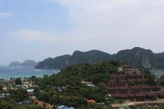 Точка зрения острова Phi Phi Стоковое Изображение RF