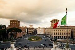 Точка зрения от Vittoriano Стоковое Изображение