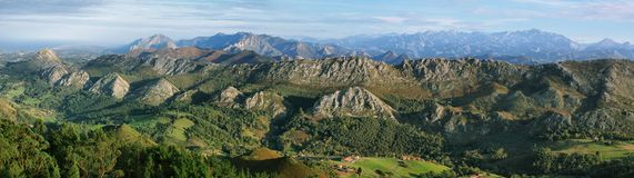 Точка зрения Fito, взгляд Picos de Европы стоковое фото