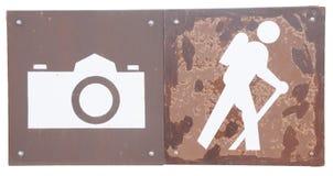 точка зрения hiking тропки стоковые изображения