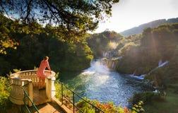 Точка зрения Krka водопада Стоковое фото RF