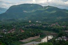 Точка зрения Luang Prabang, Лаос стоковая фотография rf