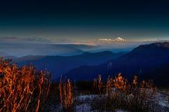 Точка зрения Lungthang, Сикким, Индия стоковые изображения rf