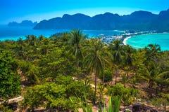 Точка зрения Phi Phi, Krabi, Таиланд стоковое изображение