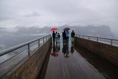 Точка зрения Stegastein, Норвегия Стоковые Изображения