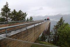 Точка зрения Stegastein, Норвегия Стоковые Фото