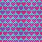 Точка и сердца польки Стоковое Фото