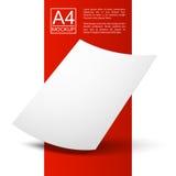 Точка красное line4-01 бумажного модель-макета a4 Стоковое Фото