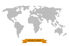 Точка креста карты мира вектора Стоковая Фотография