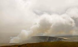 Точка доступа в вулканах национальном парке, Гаваи стоковое фото rf