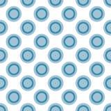 Точка польки элементы делают по образцу вокруг безшовного Нарисовано вручную иллюстрация штока