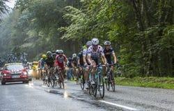 Точка польки Джерси велосипедист Тони Мартин Стоковое Фото