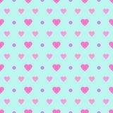 Точка & сердца польки Стоковое Изображение RF