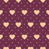 Точка & сердца польки Стоковое Фото