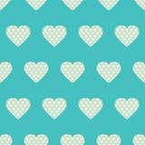 Точка & сердца польки Стоковые Фото