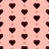 Точка & сердце польки Стоковое Фото