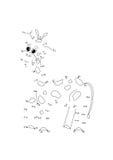 Точки игры, жираф Стоковое Фото