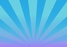 Точки полутонового изображения с предпосылкой голубых нашивок абстрактной иллюстрация вектора