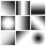 Точки полутонового изображения на белой предпосылке Стоковое Изображение