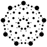 Точки, radial кругов, излучая мотив, элемент Абстрактная минимальная иллюстрация штока