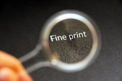 точная прочитанная печать Стоковое фото RF