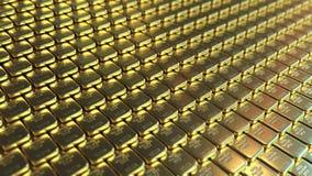 точное золото в слитках перевод 3d Стоковые Изображения RF