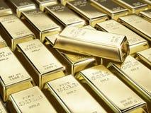 Точное золото в слитках бесплатная иллюстрация