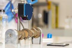 Точность высокой эффективности и технологии и быстро обнаруженный датчик расстояния лазера для промышленного стоковая фотография rf