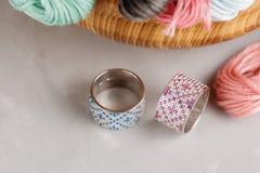 Точные кольца ювелирных изделий Стоковая Фотография RF