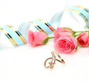 точные розы кольца Стоковое Изображение